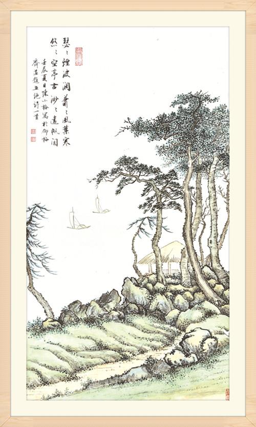 10江岸远帆 82cm×45cm  2012年.jpg
